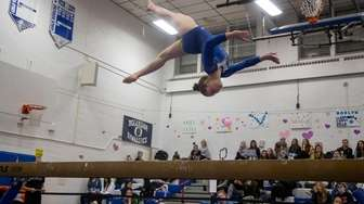 Roslyn's Shani Sirata competes in the Nassau County