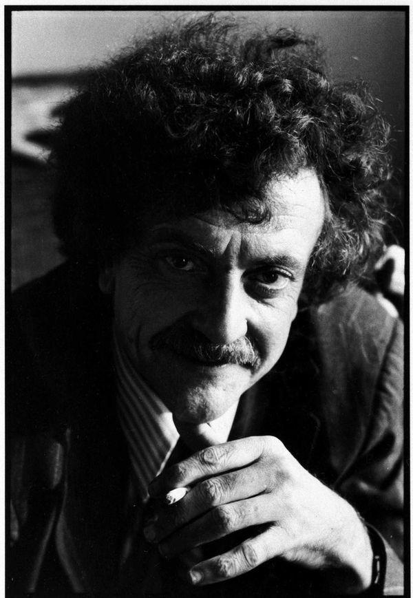 Kurt Vonnegut smiled for his wife, photographer Jill