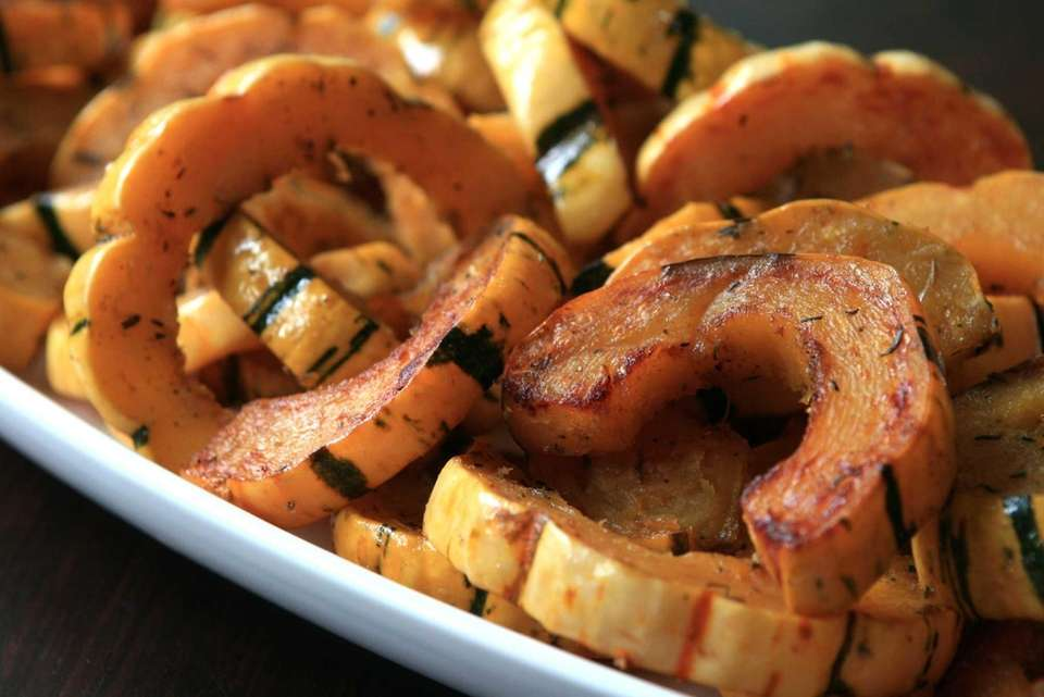 SPICED DELICATA SQUASH: Aromatic spices including cinnamon, cumin