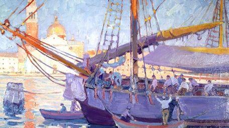 "Jane Peterson's ""The Lagoon, Venice"" (1920), an oil"