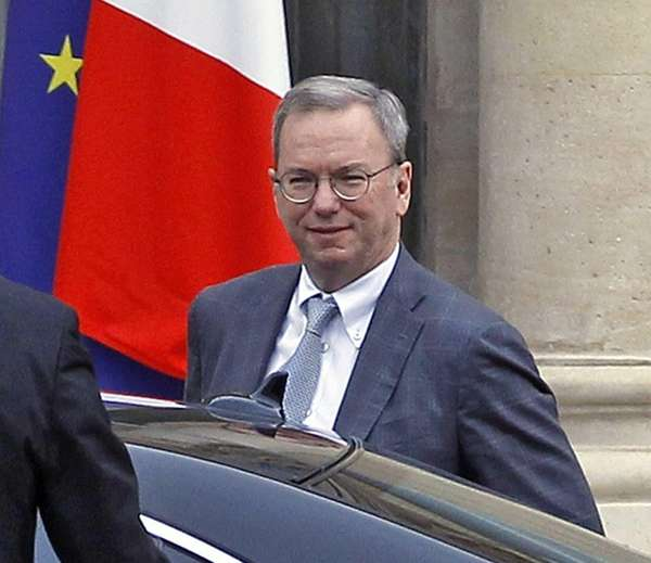 Google executive chairman Eric Schmidt arrives at the