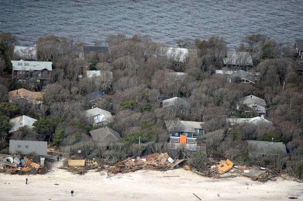 Oceanfront homes at Davis Park on Fire Island
