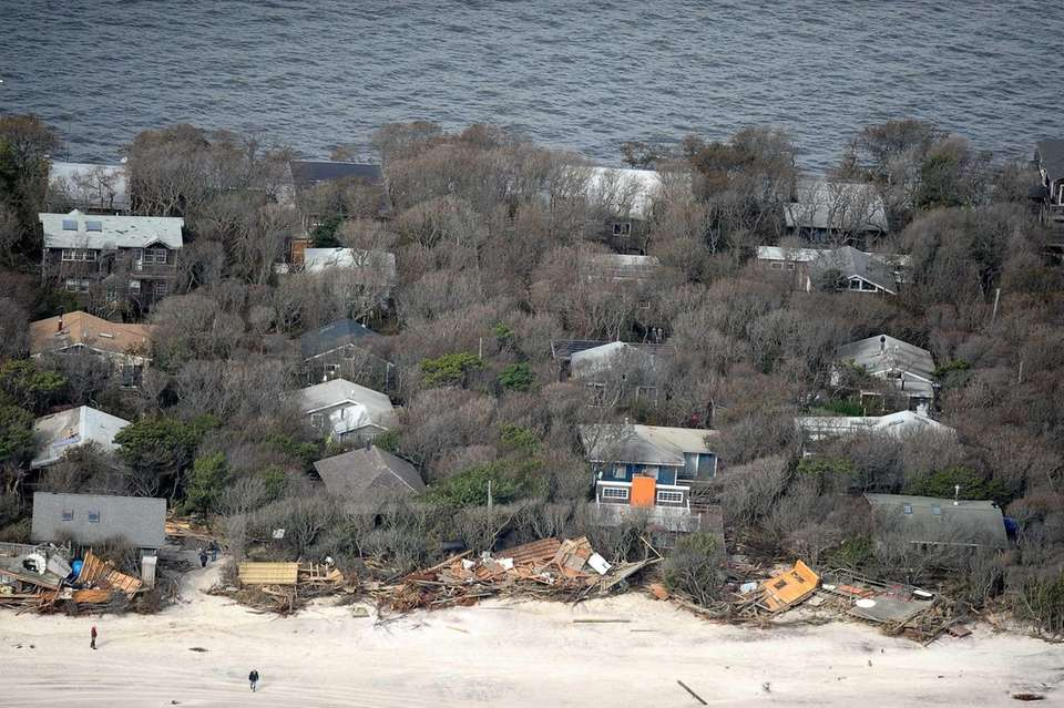 Oceanfront homes at Davis Park on Fire Island