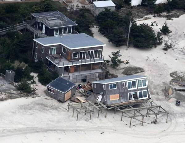 Superstorm Sandy knocked this house off its base,