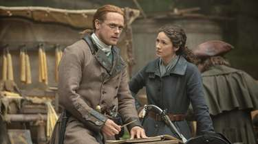 "Sam Heughan and Caitriona Balfe in Starz's ""Outlander."""