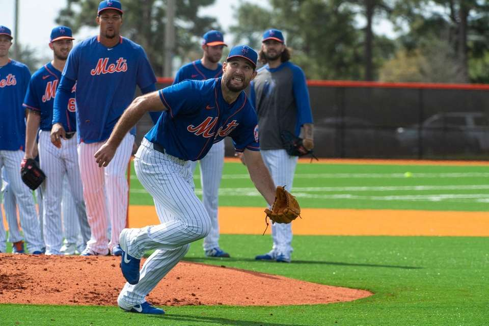 Mets pitcher Michael Wacha during a spring training