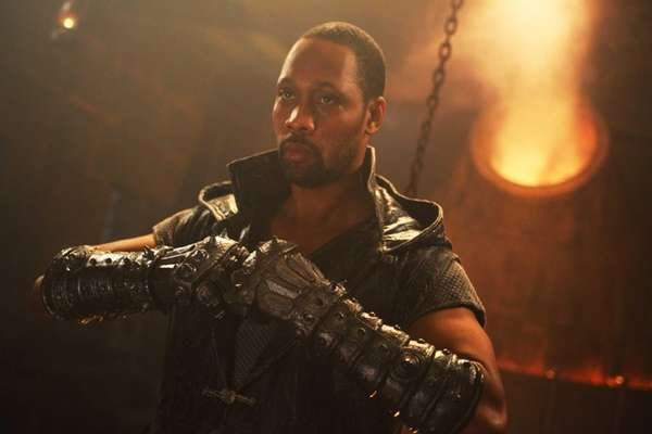 "RZA in ""The Man With the Iron Fists."""