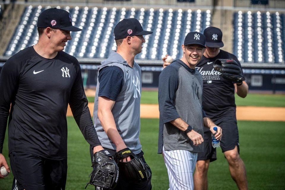 New York Yankees' pitching coach Matt Blake third