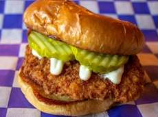 A chicken sandwich from Crispy's in Patchogue.