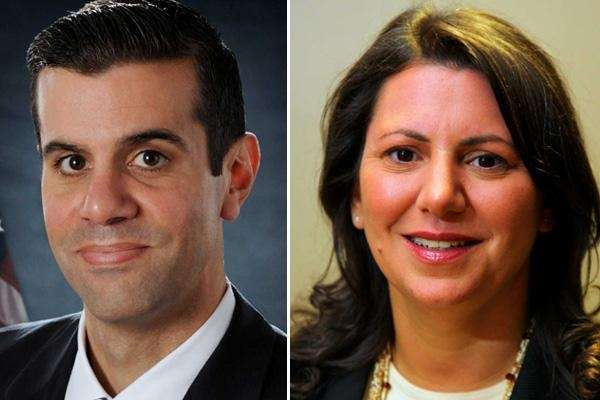 Two Republicans, Michael Venditto, left, and Joanne Maglione,
