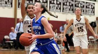 North Babylon guard Samantha Muller drives the paint