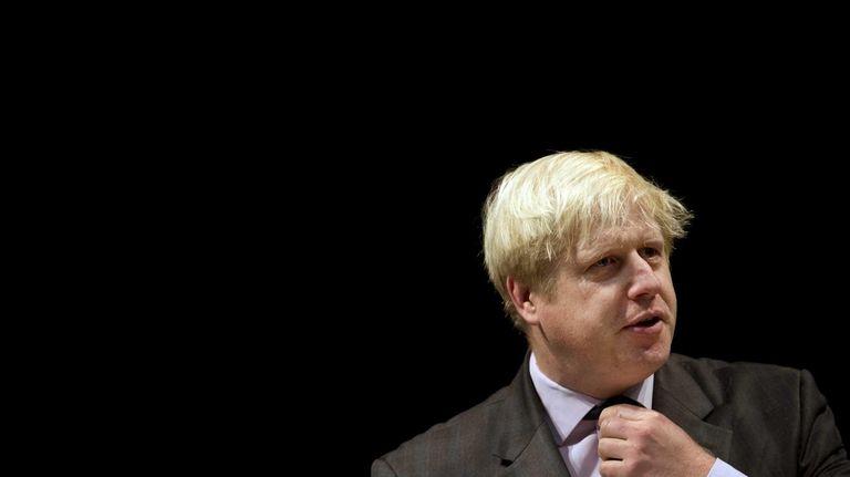 Mayor of London Boris Johnson speaks at Pimlico