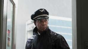 Denzel Washington portrays Whip Whitaker in a scene