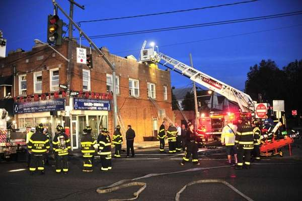 Firefighters respond to an early morning fire on