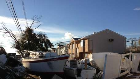 Superstorm Sandy damaged houses across the Long Island