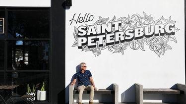 Rick Barton sits outside of Bandit Coffee Co.