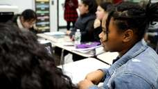 Hempstead middle school students, in partnership with Hofstra