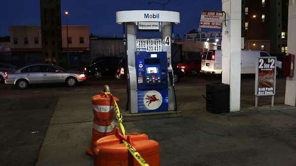 A closed gas station in Brooklyn, Nov. 1,