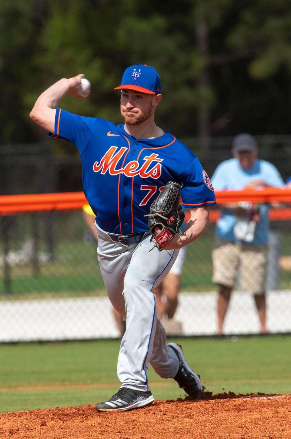 New York Mets pitcher Nick Rumbelow during a