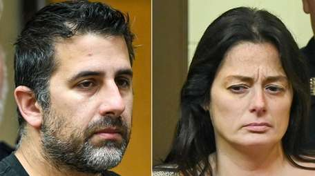 Michael Valva and Angela Pollina at their arraignment