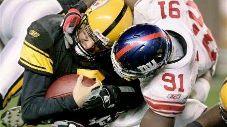 New York Giants defensive tackle Justin Tuck (91)