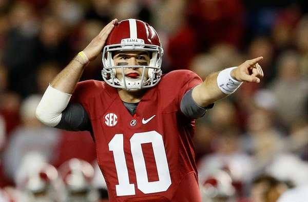 A.J. McCarron of the Alabama Crimson Tide talks