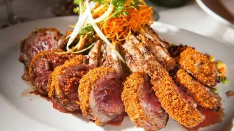 La Bistecca's rack of lamb, with a mustard-and-breadcrumb