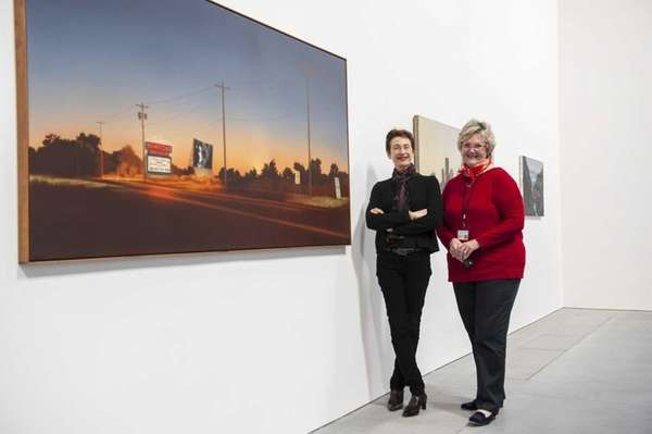 Parrish Art Museum Director Terrie Sultan, left, and