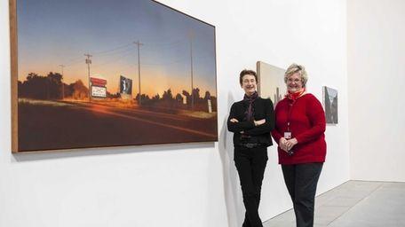 Parrish Art Museum Director Terrie Sultan, left, and