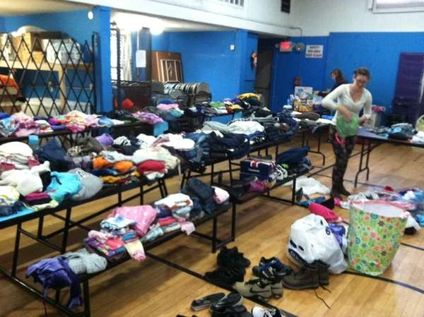 A food and clothing drive is being held