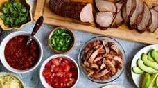 Spice-rubbed pork tenderloin roast becomes a second meal