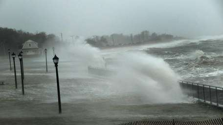 Ransom Beach in Bayville is completely submerged as