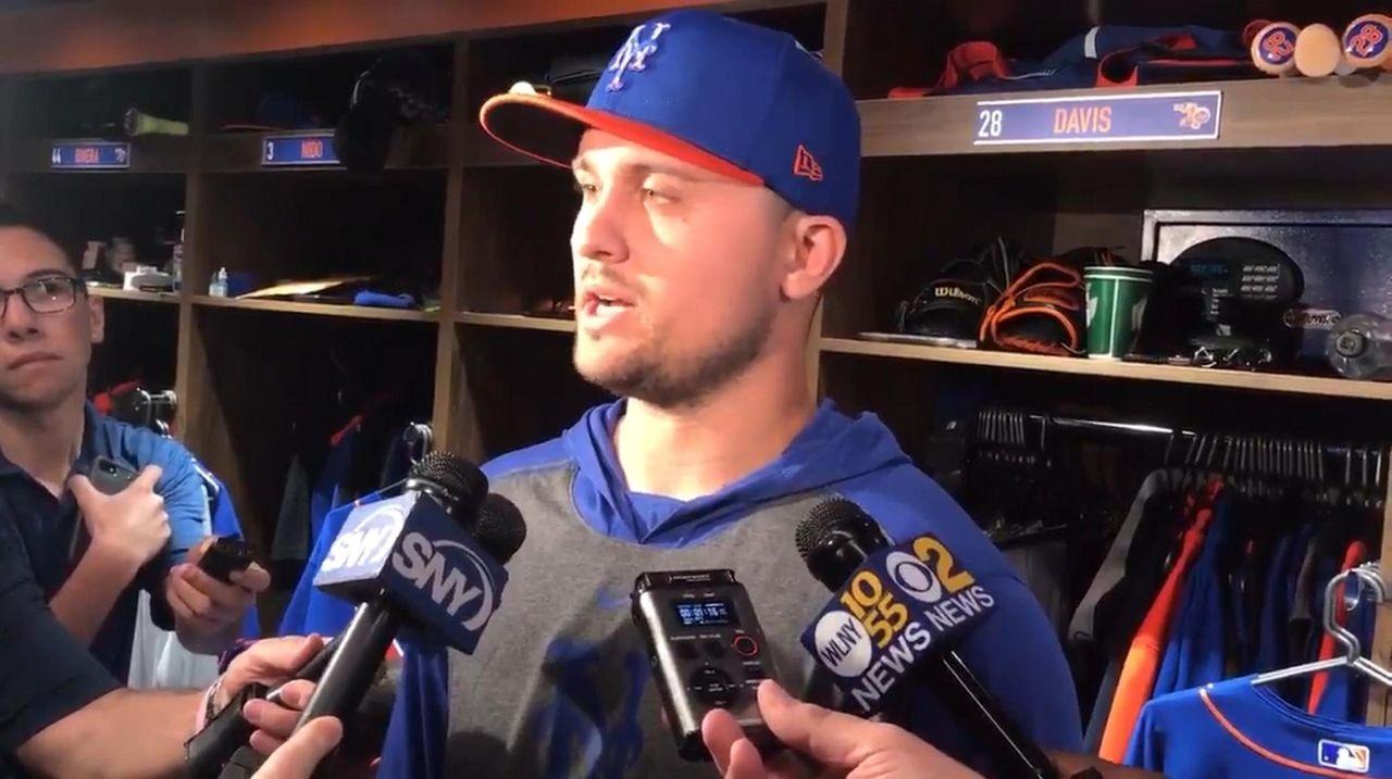 Mets third baseman J.D. Davis addressed the media
