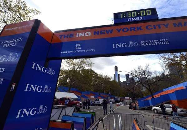 A view of the finish line in Central