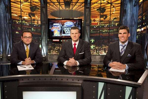 From left, MSG Network's Knicks post-game show with