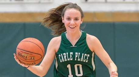 Eighth-grader Caitlin Leary is a first-year starter for