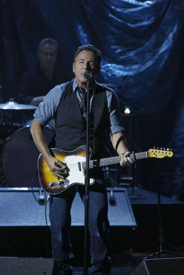 In this photo provided by NBC, Bruce Springsteen