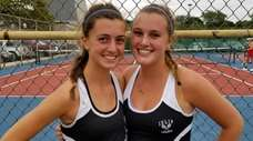 Islip's Darienne Rogers, left, and Maddie Germano won