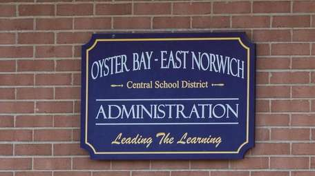 A sign outside the Oyster Bay-East Norwich Central