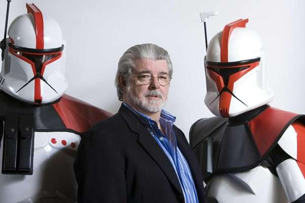 Director/producer George Lucas poses for a portrait in
