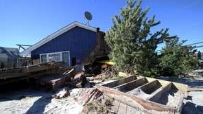 A home damaged by superstorm Sandy in Atlantique