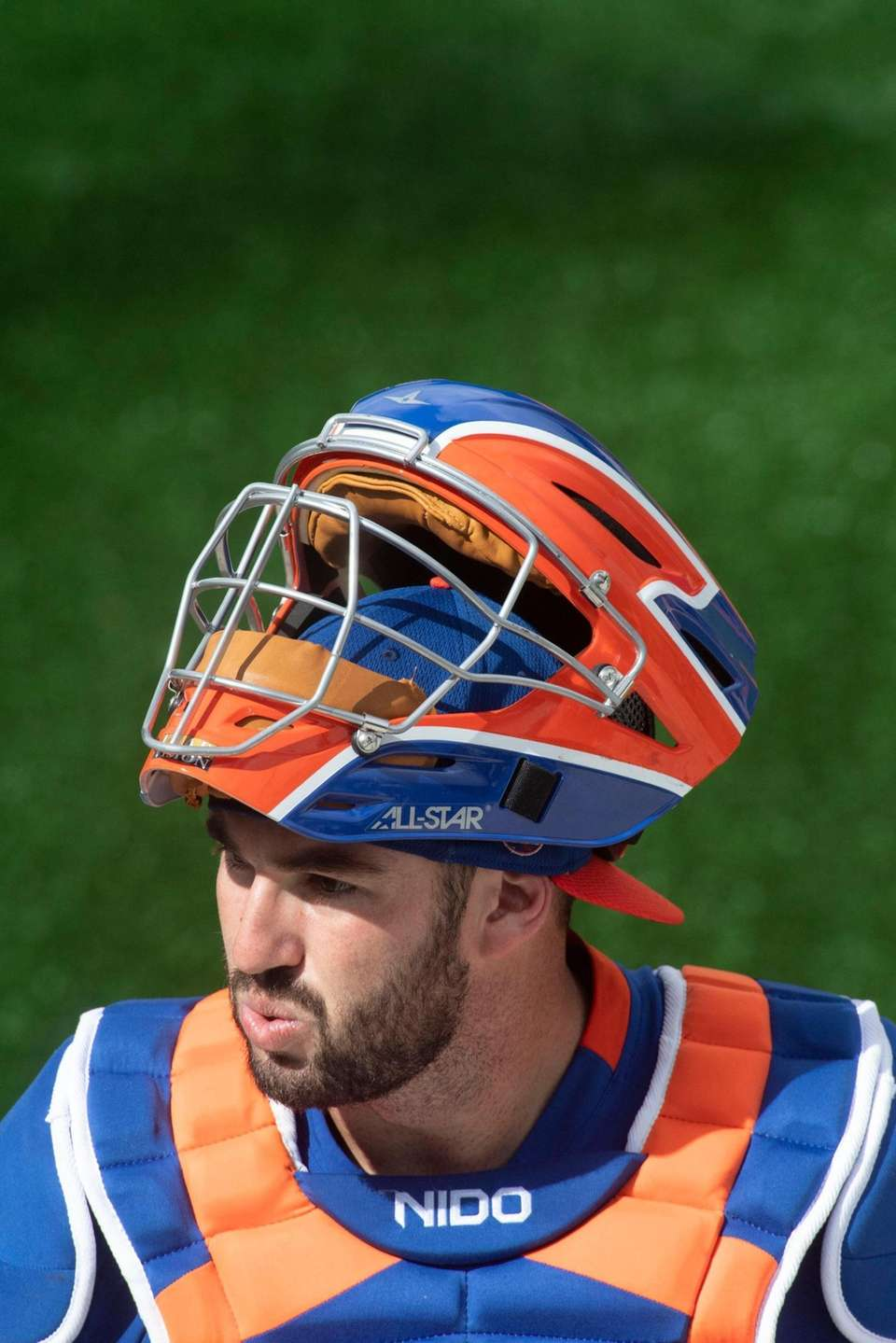 New York Mets catcher Tomas Nido during a