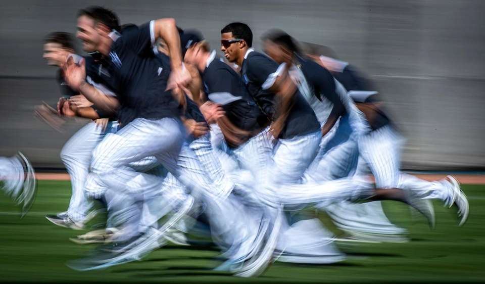New York Yankees' pitcher running interval during spring