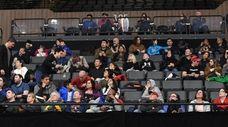 Fans attend a semifinal match between Kyle Edmund