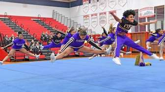 Central Islip perform their winning routine at the