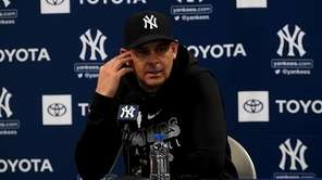 Yankees manager, Aaron Boone, said that catcher Gary