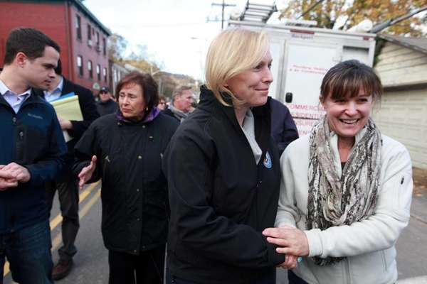 U.S. Sen. Kirsten Gillibrand (D-NY) speaks with Deborah