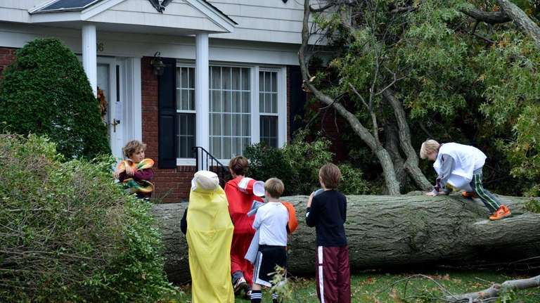 Hurricane Sandy didn't keep these children from trick-or-treating