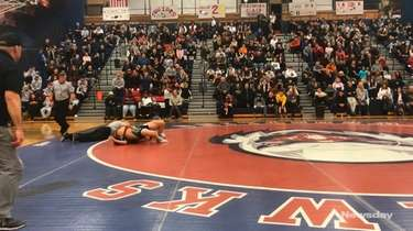 Clarke's Jordan Soriano won by fall, :57, over