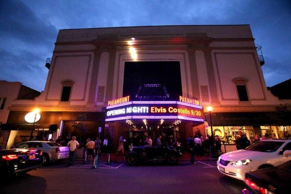 Parmount Theater before Elvis Costello Concert